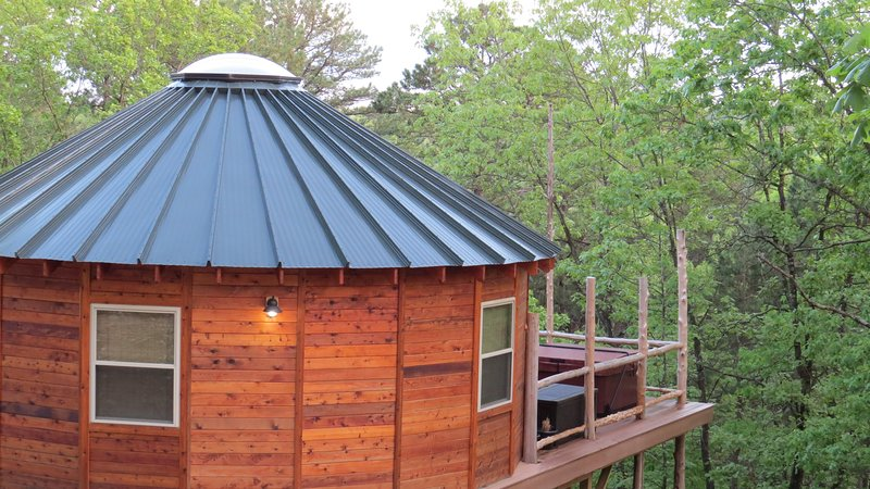 Pine View Yurt with a 5' skylight.