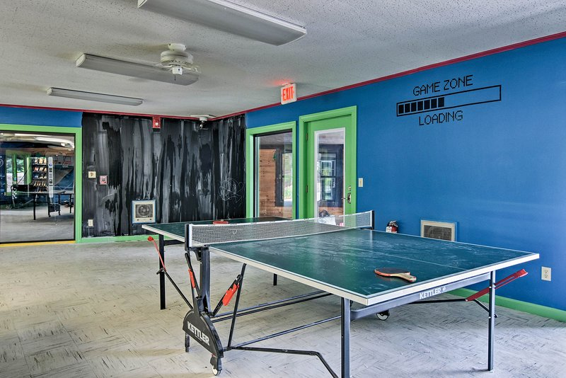The game room ensures hours of entertainment.