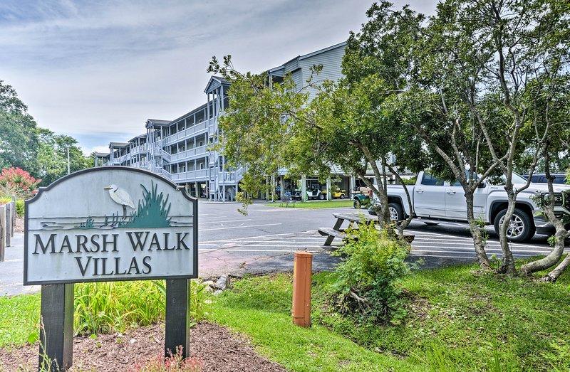 Find the condo tucked in the quiet Marsh Walk Villas community.