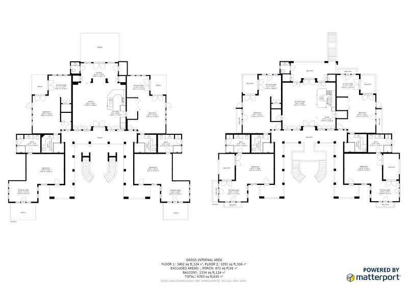 Villa Tranquila's floor plan