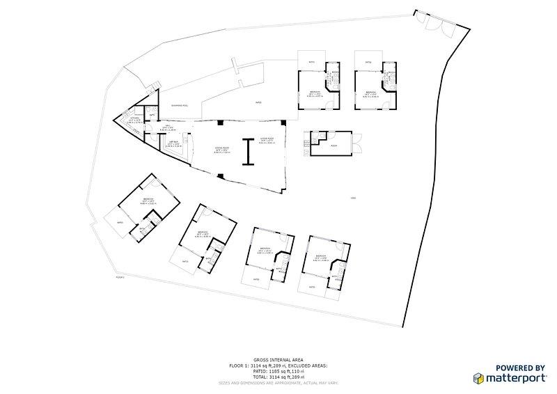Puesta del Sol's floor plan