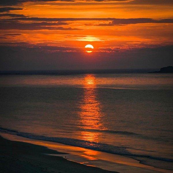Costa norte puesta de sol