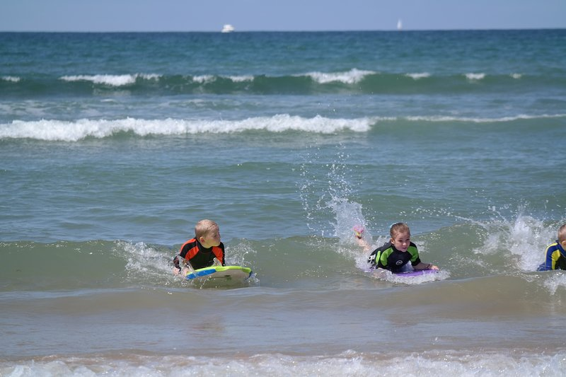 Fun in the waves at Veillon Plage