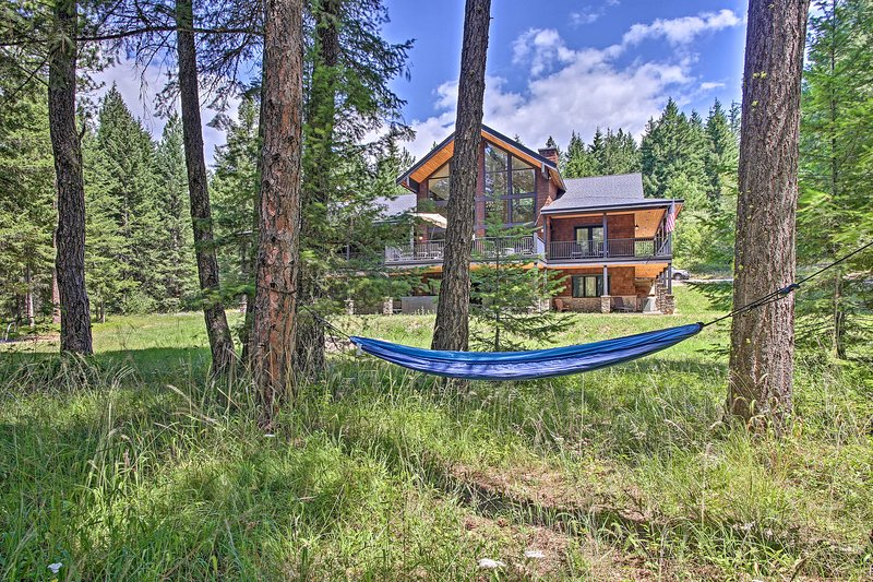 Relax in the hammock and listen to the sounds of nature.