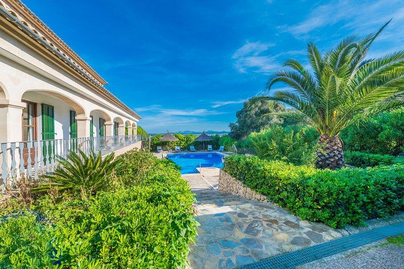 Villa rural Sa Pleta para 12 personas a tan solo 15 minutos de la playa., alquiler de vacaciones en Sant Joan