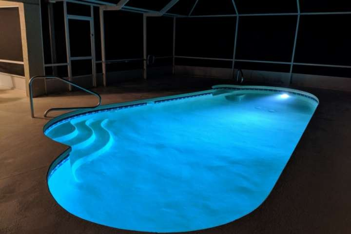 Night swims in the saltwater pool, yes you can do that at the Salty Breeze in beautiful Palm Coast, FL