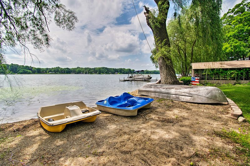 2 paddle boats are available for your use!