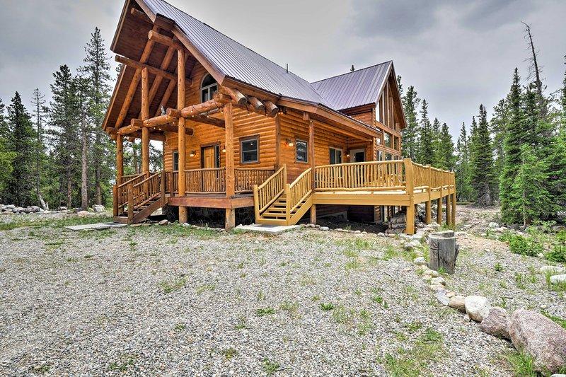 This 3-bedroom, 2-bath cabin can sleep 8.