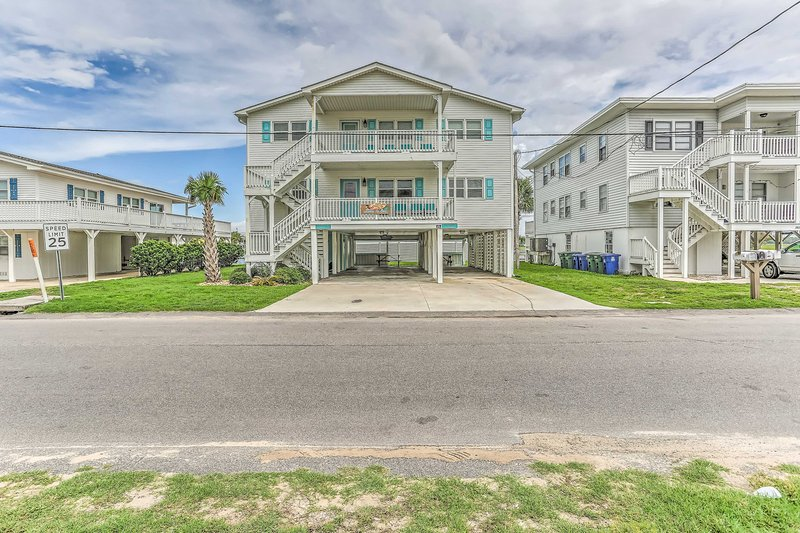 Find this home just one block from the beach.