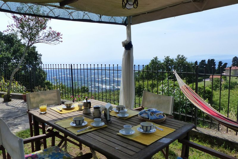 A house with view in Versilia,stunning location with a breathtaking view,sleeps7, holiday rental in Pedona