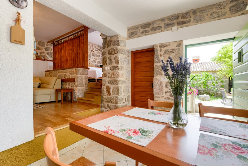 Traditional stone house Adrian, vacation rental in Tribanj
