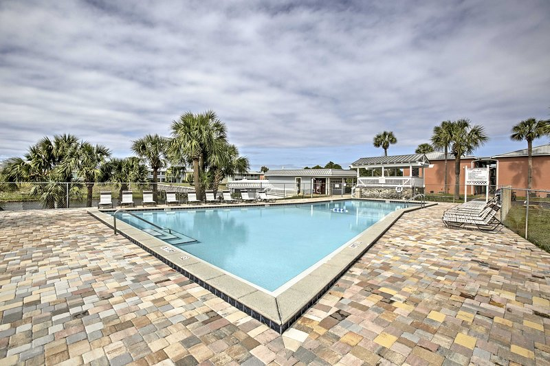 This vacation rental condo is located at the Gulf Terrace Condominiums.