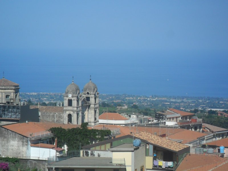 View of the mother church and the sea.