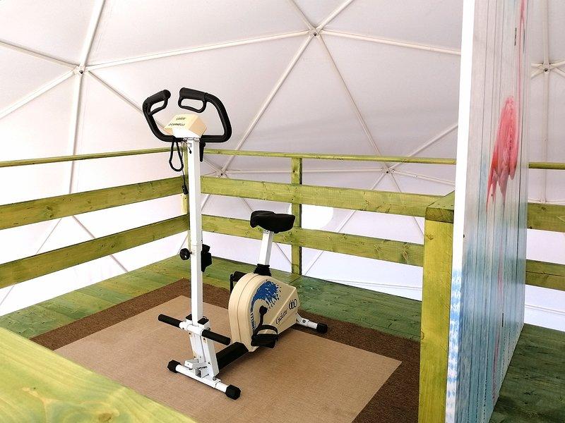 cúpula geodésica común: área de fitness