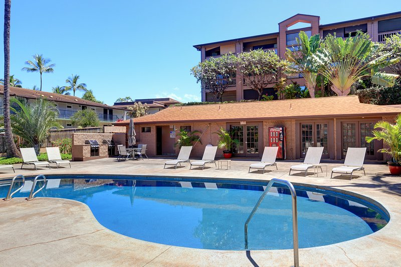 Relaxed private pool with BBQ grill & more