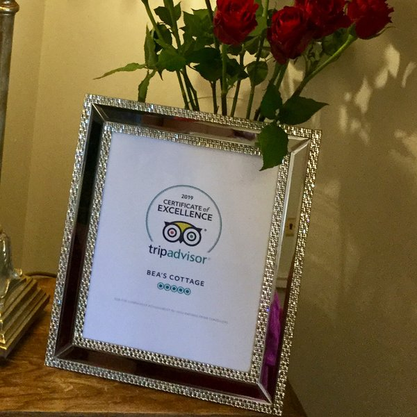 Bea's Cottage - Certificate of Excellence