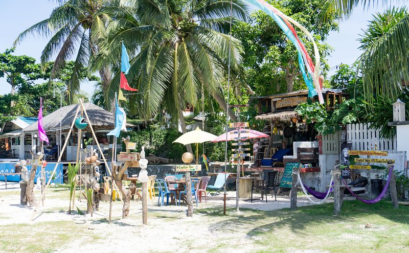 Cafe on one of the beaches