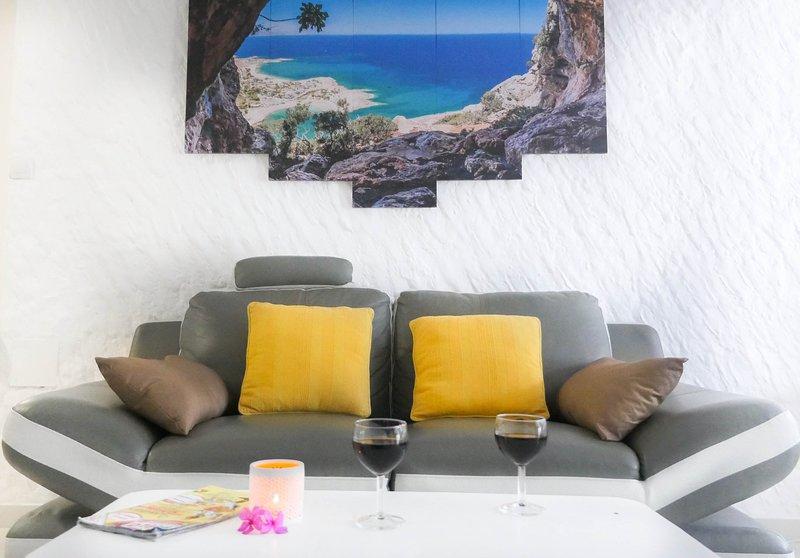 Studio Océan à 3 min à pied de la plage, location de vacances à Trois-Îlets
