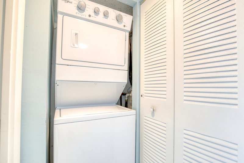 Washer and dryer in the unit for your convenience