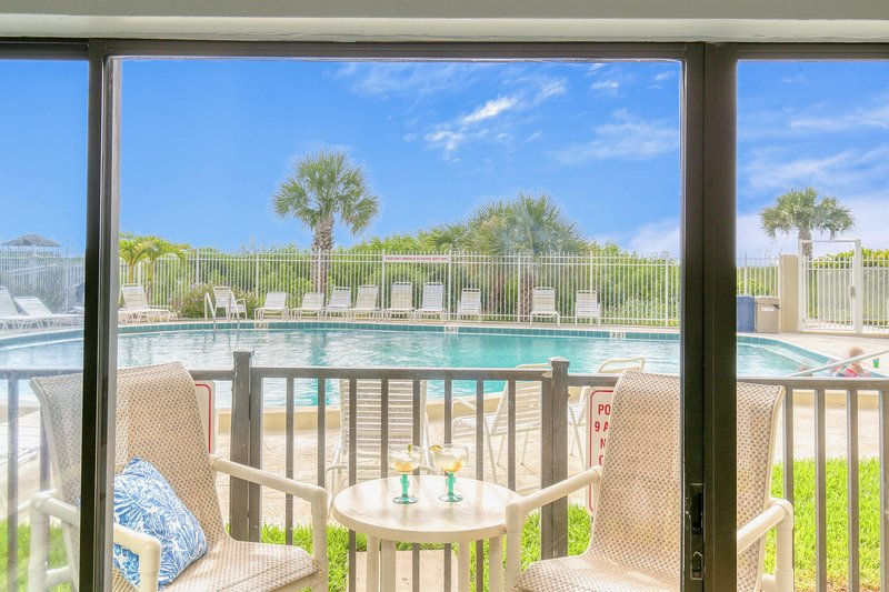 Walk right out your back door to the pool!