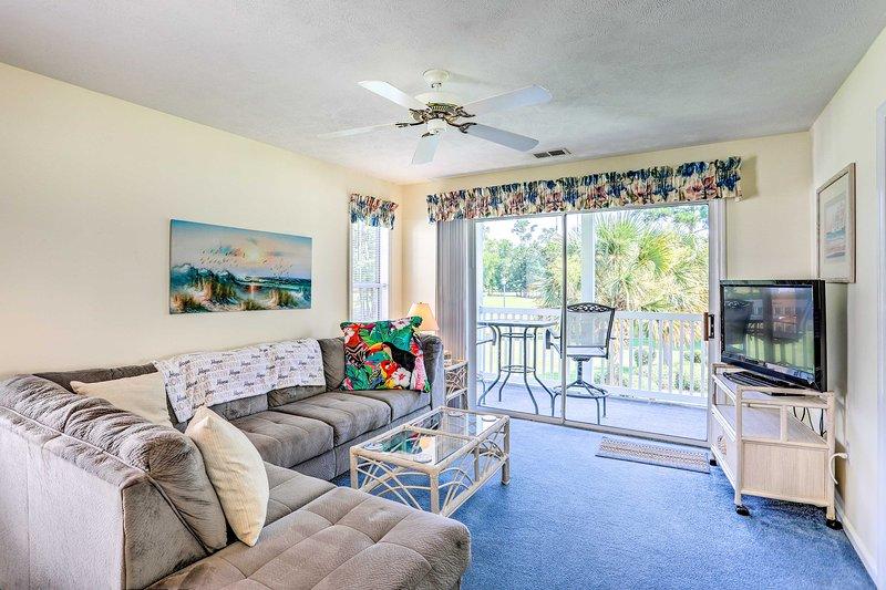 Book a trip to this 2-bedroom, 2-bathroom vacation rental condo in Myrtle Beach.