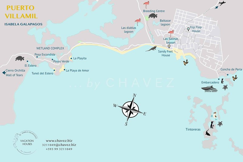 Puerto Villamil Map