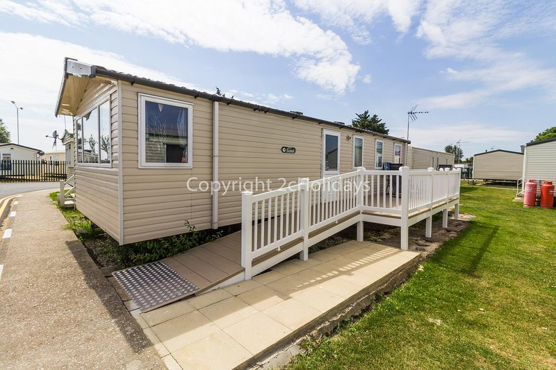 Beautiful caravan with lots of homely touches and decor.