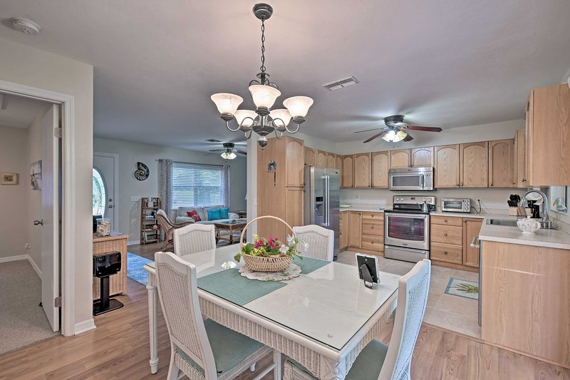 You'll love the open concept layout for 6 guests.