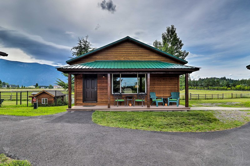 Get away to the mountains and stay at this picturesque vacation rental cabin!