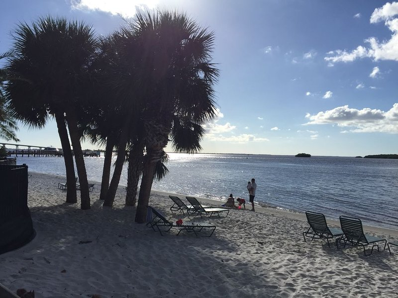Another view of the condo beachfront - Sanibel causeway just minutes away