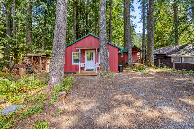 New listing! Dog-friendly cabin in the woods in a peaceful Mt Hood location!, holiday rental in Zigzag