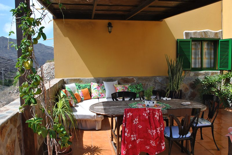 Nice house with terrace & Wifi, holiday rental in Puerto de Mogan