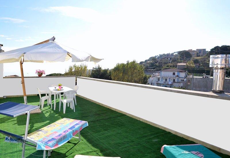 terraza totalmente equipada