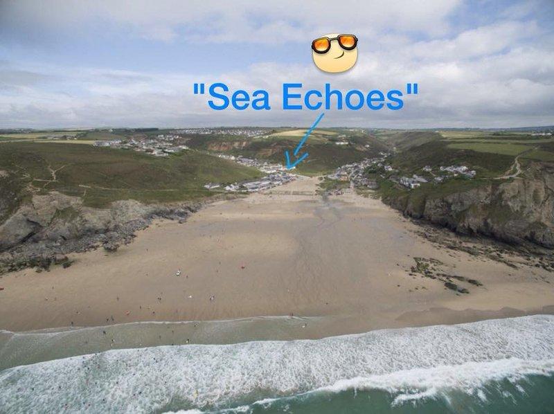 'Sea Echoes', Porthtowan, Cornwall, holiday rental in Threemilestone