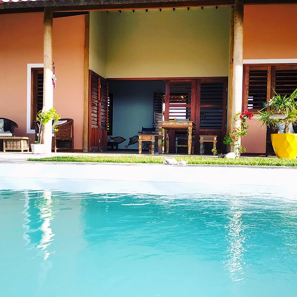 House of Jardim de Kïnnara with ocean view, Ferienwohnung in Canoa Quebrada