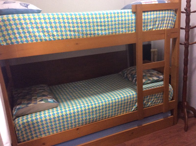 Room has 3 beds.