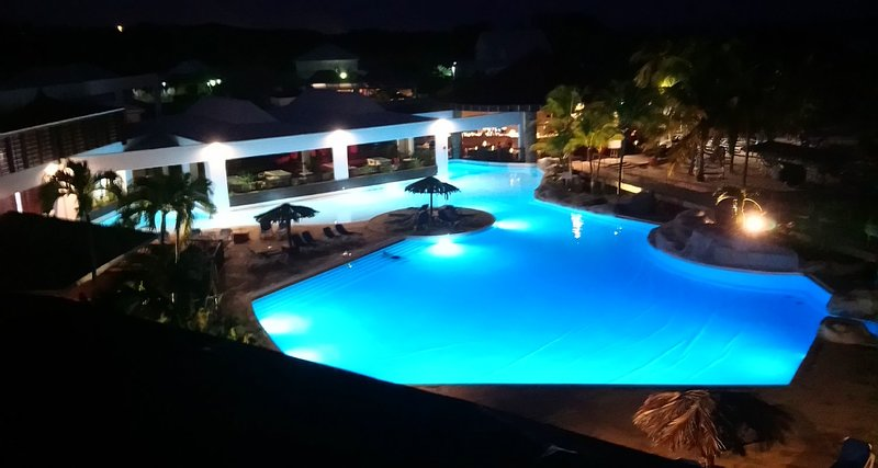 PtiManganao view of the pool at night