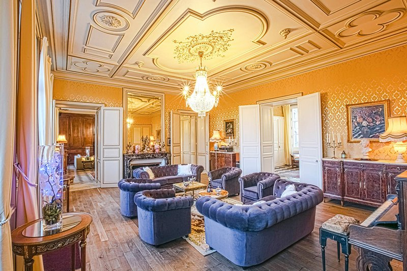 25 bedroom Chateau with Pool, Air Con and WiFi - 5364702, aluguéis de temporada em Pressac