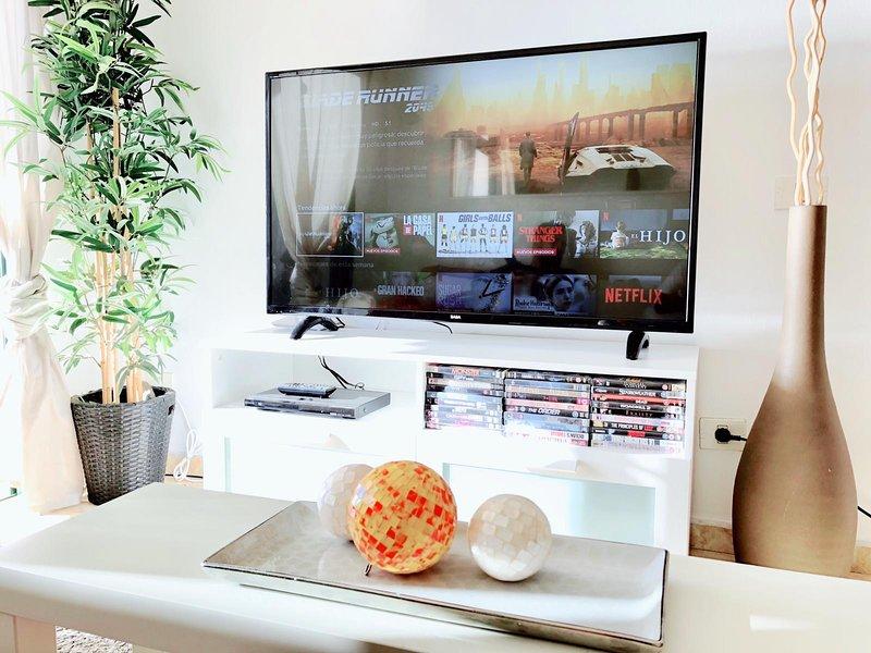 Nuevo Smart TV de 50 pulgadas, completo con el paquete completo NETFLIX ... Disponible en todos los idiomas