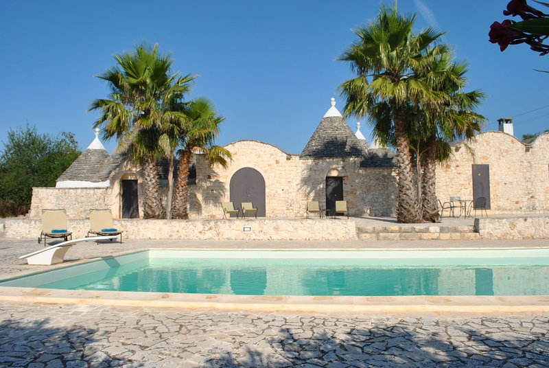 Trullo set in 4 secluded acres of fruit and olive trees