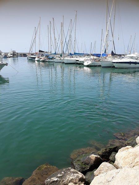 The marina at the nearby town of Caleta de Velez , a 20mins drive from Nerja heading towards Malaga