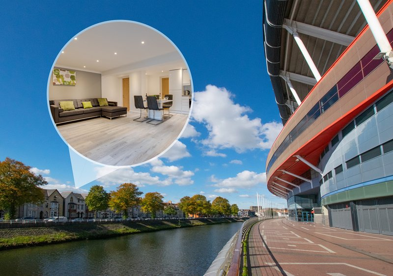 Hafan y Ddinas Cardiff Apartment, location de vacances à Penarth