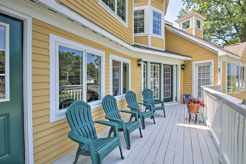 Enjoy the coastal air and sounds just steps from the vacation rental!