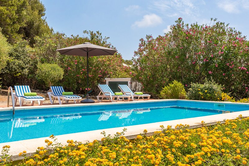 Villa BiniNina - private pool, seaview, free AC & WiFi, holiday rental in Biniancolla