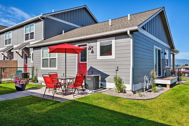 Soak up the sun on the patio of this vacation rental!