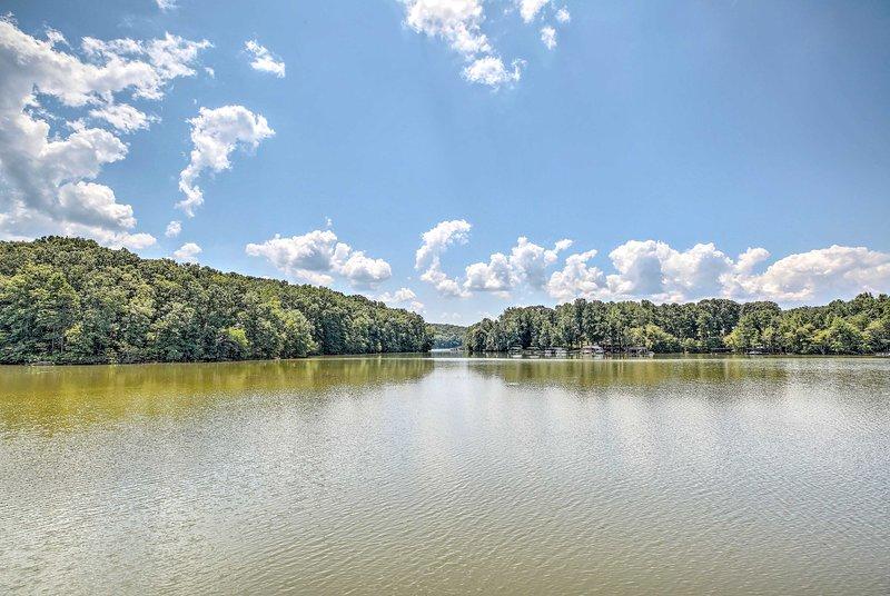 El lago Lanier es uno de los lagos más importantes de Georgia.