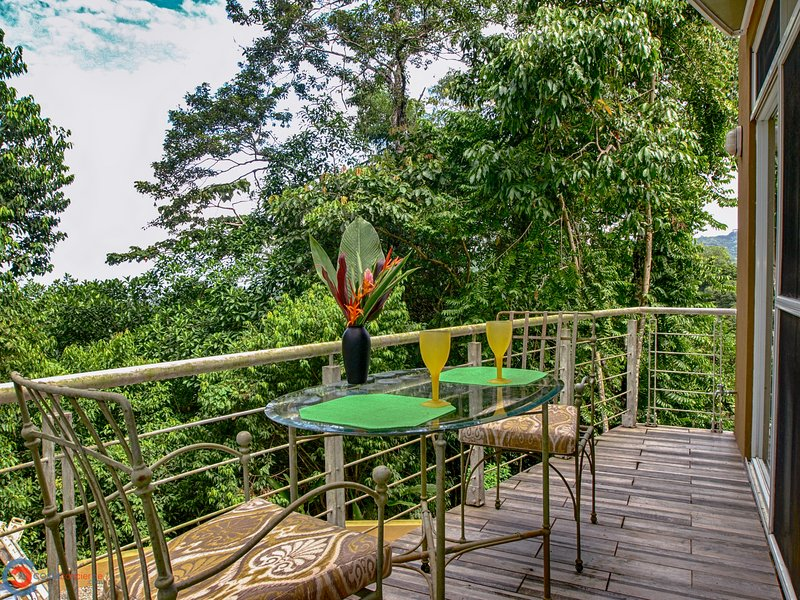 Guest house porch overlooking the jungle.