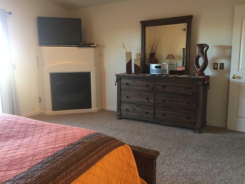 Master Bedroom vanity/fireplace