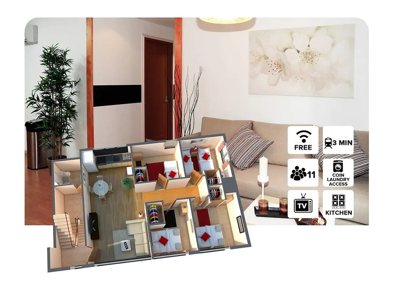 2 bedroom Apartment ! 3 Minutes walk from Tsutenkaku Station! #400, holiday rental in Osaka Prefecture