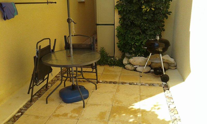 Garden BBQ area